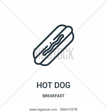 poster of Hot Dog Icon Isolated On White Background From Breakfast Collection. Hot Dog Icon Trendy And Modern