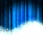 blue theater curtain with space for your text