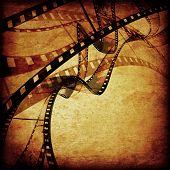 composition of movie frames or film strip