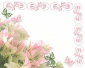 Floral Card Or Invitation Background