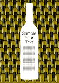 image of wine bottle  - silhouette white wine bottle against  green bottle - JPG