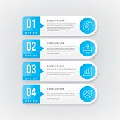 Time-line Info-graphic With 4 Options, Steps, Number. Vector Info-graphic Element poster