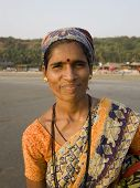 Portrait Of Smile  Indian Female