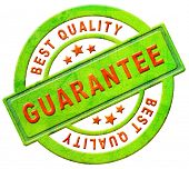 guarantee best quality stamp or icon warranty for sales on internet web shop online shopping