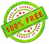 free of charge gratis label gift present 100% icon promotion free sample promotional free trial red