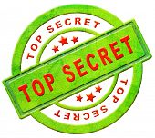 top secret icon or stamp confidential or classified information secrecy button in red text on green