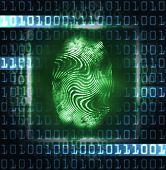 Illustration Of The Fingerprint And Digits