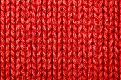 Red woolen texture, bay be used as background