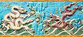 Постер, плакат: Стена девяти Дракон в парк Бэйхай Пекин Китай Стена была построена в 1756 CE