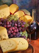 Grape, Cheese, Wine