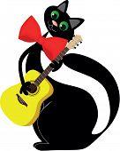 In love black cat