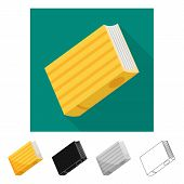 Isolated Object Of Diary  And Text  Icon. Collection Of Diary  And Reading    Vector Icon For Stock. poster