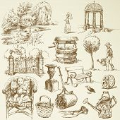garden - hand drawn set