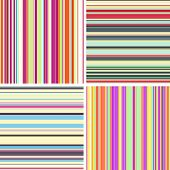 Vector set of seamless colored stripe patterns.