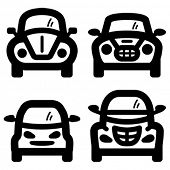 stock photo of beetle car  - Car icons - JPG
