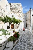Typical Greek Island Town - Paros Island Greece