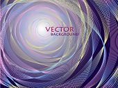 Vector Abstract Concentric Background