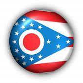 Bandeira de redondo botão EUA estado de Ohio