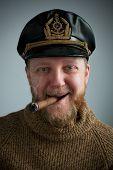 Seaman With A Smoking Cigar, Knit Sweater
