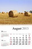 2013 Calendar.august