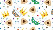 stock photo of purim  - A Vector Pattern of Purim symbols - JPG