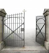 Open Wrought-iron Gate