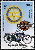 Old Motorcycle Stamp