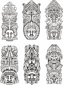 Azteca Totem Poles