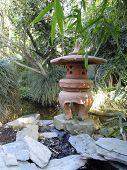 foto of loamy  - Exotic oriental garden in greenhouse  - JPG