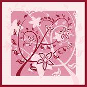 Vino tinto ornamento floral (patrón) con flores.
