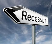 recession crisis bank and stock crash bank recession market crash arrow