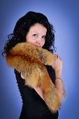 Attractive Brunette Wearing Fox