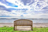 Wooden Bench With Sea View