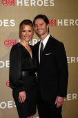 LOS ANGELES - DEC 2:  KaDee Strickland, Jason Behr arrives to the 2012 CNN Heroes Awards at Shrine A