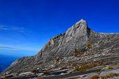Rocky peak on Mount Kinabalu Sabah Malaysia.