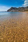 Golden Sea Water In Tenerife, Spain