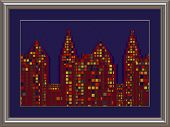 Skyscrapers Art In A Silver Frame
