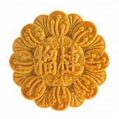 picture of mid autumn  - Traditional mooncake isolated on white background - JPG