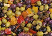 Olives And Paprica Salad