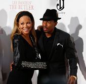 NEW YORK-AUGUST 5: Singer Mariah Carey and husband Nick Cannon attend the premiere of Lee Daniels'