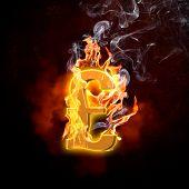 Illustration of pound burning symbol. Money concept