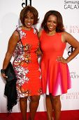 NEW YORK-AUG 5: TV Personality Gayle King (L) and Kirby Bumpus attend the premiere of Lee Daniels'