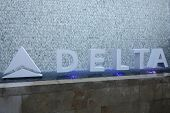 BEVERLY HILLS - AUG 15: Atmosphere, Delta signage at a summer celebration hosted by Delta Air Lines at a private residence on August 15, 2013 in Beverly Hills, California