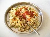 HAKKA NOODLES PREPARED IN CALCUTTA.