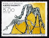Postage Stamp France 1985 The Dog, By Alberto Giacometti