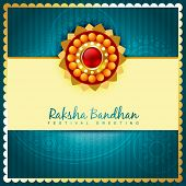 stock photo of pooja  - raksha bandhan design with space for your text - JPG