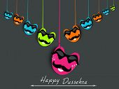 stock photo of dussehra  - Indian festival Happy Dussehra background - JPG
