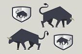 image of oxen  - Bull icon - JPG