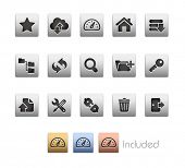 FTP & Hosting Icons // Metallic Series - It includes 4 color versions for each icon in different lay