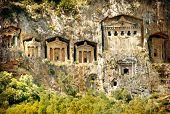 ancient lykia tombs (Turkey mountains)
